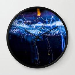 Neon Rain Cloud Wall Clock