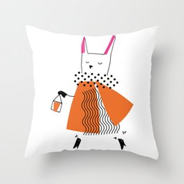 CHIC! A MORNING AT THE MARKET Throw Pillow