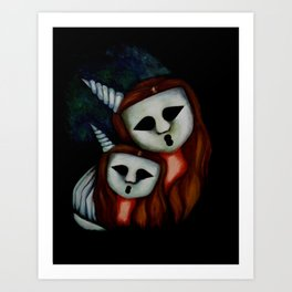 Mommy and Baby Ghostess VI. The Ghostesses Of Caprice. Art Print