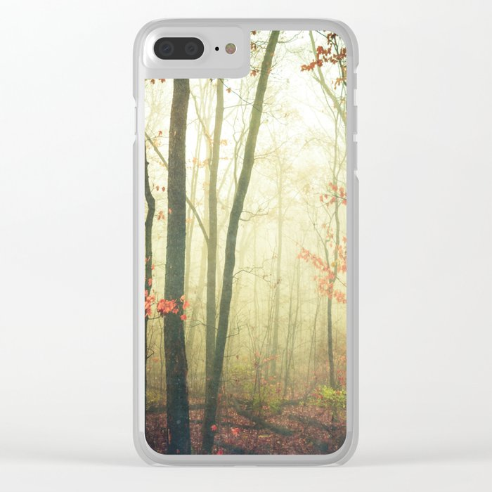 The Woods are Lovely Dark and Deep Clear iPhone Case