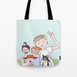 Peace and Spring's Love Tote Bag