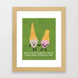 Cooler Cones Framed Art Print