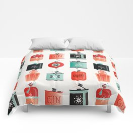 Flask Collection – Red & Turquoise Palette Comforters