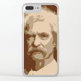 Mark Twain Clear iPhone Case