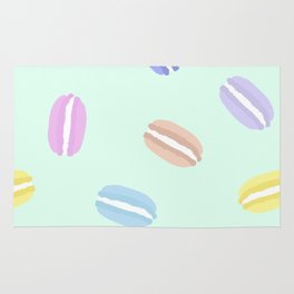 Large Macarons in Mint Rug