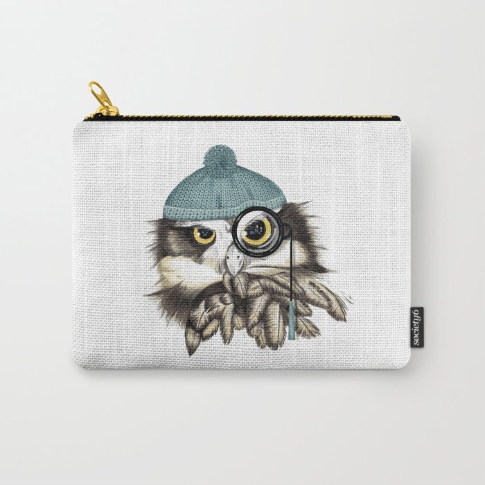Owl eyeglass and cap Carry-All Pouch