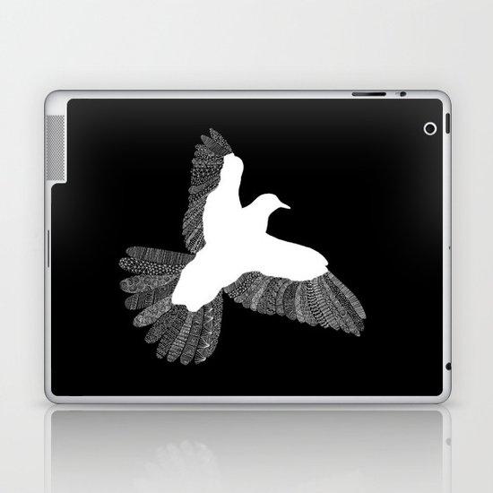 Bird (On Black) Laptop & iPad Skin