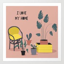 I Love My Home Art Print