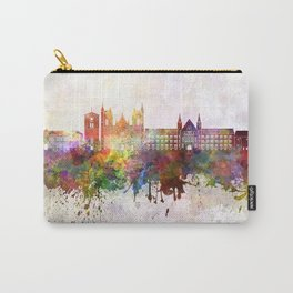 Trondheim skyline in watercolor background Carry-All Pouch