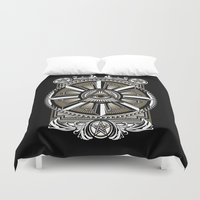 all seeing eye Duvet Covers featuring All Seeing Eye by Pancho the Macho