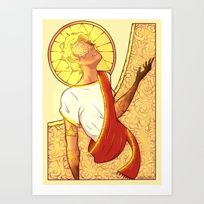 Golden Touch Art Print