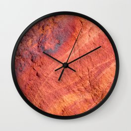 Natural Sandstone Art - Valley of Fire Wall Clock