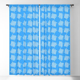 Antic pattern 28- grid or rack - blue Blackout Curtain