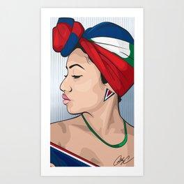Chicks and Head Wraps 2 Art Print