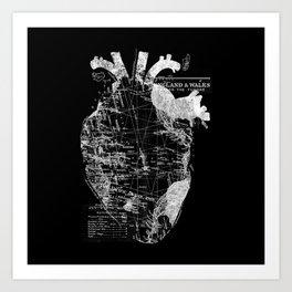 Heart Wanderlust Art Print