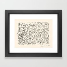 Many Faces Framed Art Print