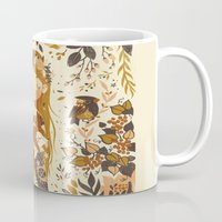 vintage Mugs featuring The Queen of Pentacles by Teagan White
