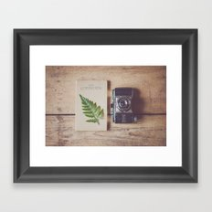 a weekend in the country ... Framed Art Print