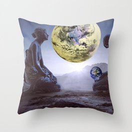 The World is in Our Hands Throw Pillow