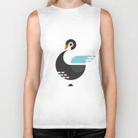 black swan Biker Tanks featuring Black Swan by ruudheijden