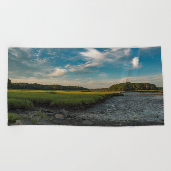 Sky and marsh Beach Towel