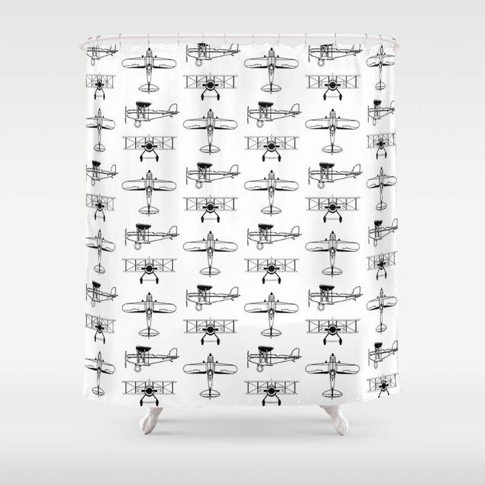 Biplanes Shower Curtain