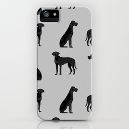 Great Dane black coat valentines day dog breed dog must haves iPhone Case