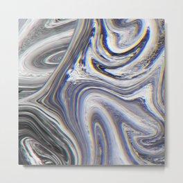 Marble Glitch Pattern II Metal Print