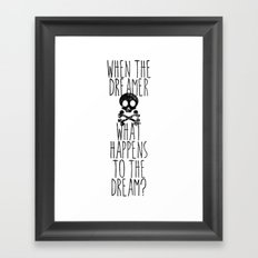 The end of dreams Framed Art Print