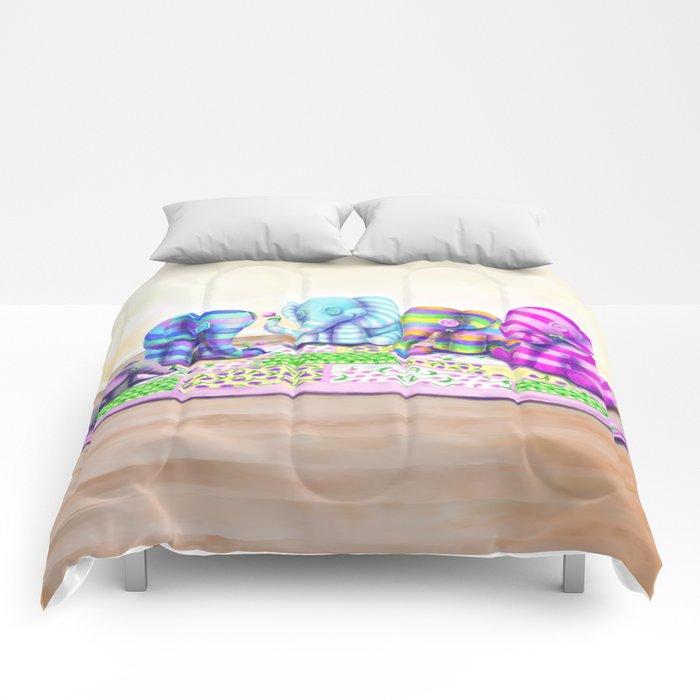 Elephant's Brunch Comforters