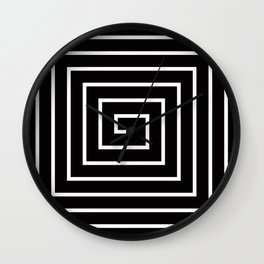 Black White Spiral Wall Clock