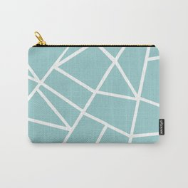 Light grayish cyanide geometric motif with lines Carry-All Pouch