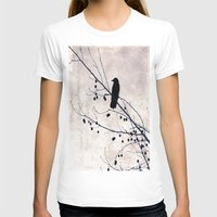 crow T-shirts featuring Crow by Maite Pons