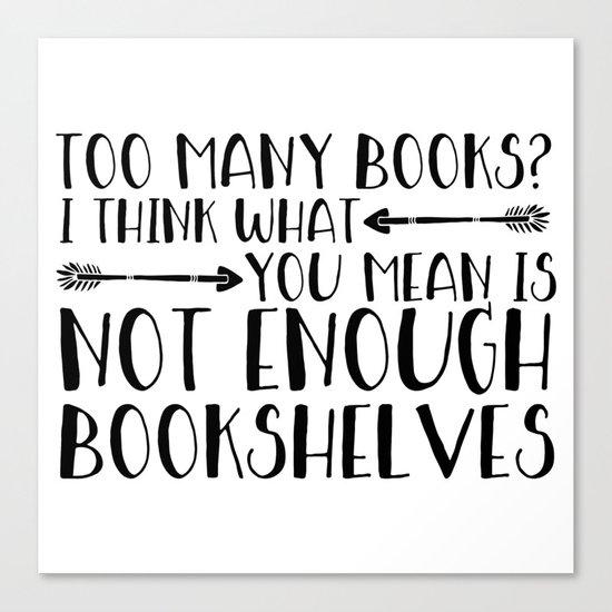 Too Many Books? (Arrows) Canvas Print