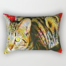 The TIGER from our FUNK YOUR FELINE line Rectangular Pillow