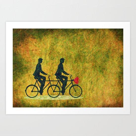 On Wheel Love Art Print