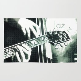 Double bass and Guitar Rug