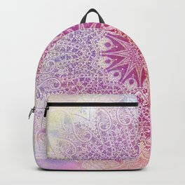 star mandala in pink mood Backpack