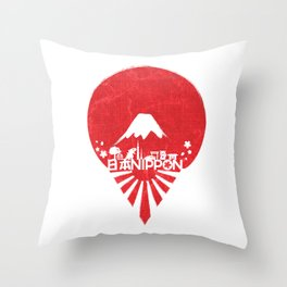 ONE NIPPON Throw Pillow