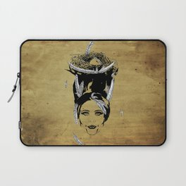 A Head Full of Feathers Laptop Sleeve
