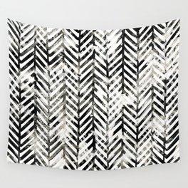 Black and White Herringbone Wall Tapestry