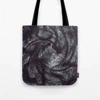 furry Tote Bags featuring furry swirl by Matthias Hennig