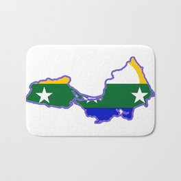 Map of Isla de Margarita with Flag Bath Mat