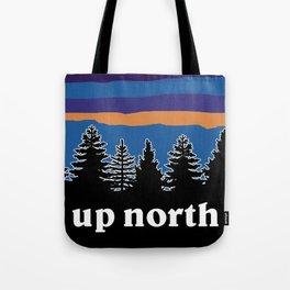 up north, blue & purple Tote Bag