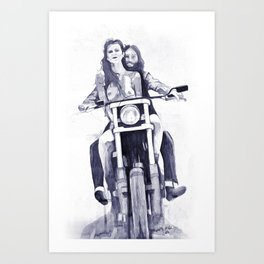Biker Babes Art Print