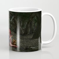 red riding hood Mugs featuring Red Riding Hood by Viggart