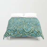 bows Duvet Covers featuring Bows by Motif Mondial
