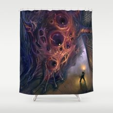 The Mountains of Madness Shower Curtain