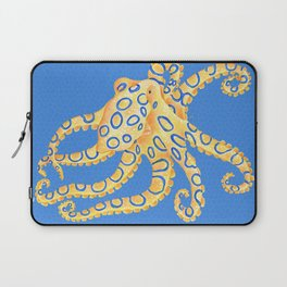 Blue Ring Octopus Laptop Sleeve