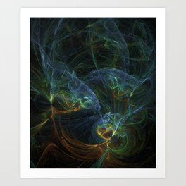 fractal Bunt Art Print
